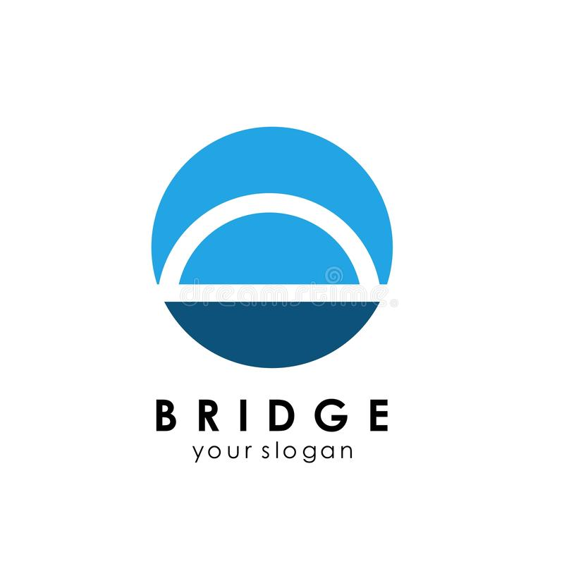 Bridge Logo Template Design Vector Icon Illustration royalty free illustration