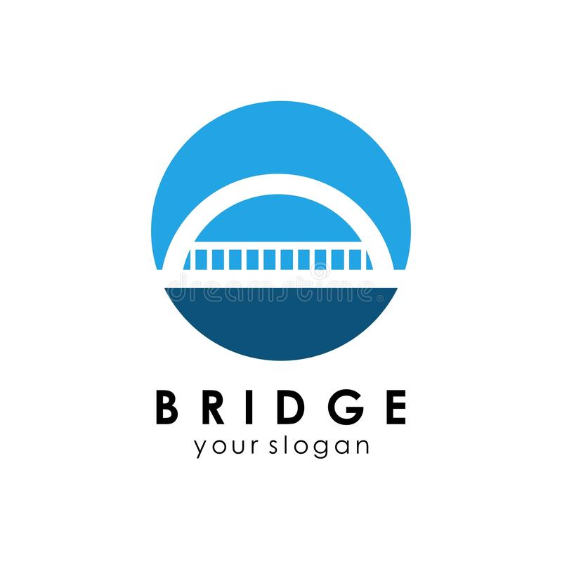 Bridge Logo Template Design Vector Icon Illustration. Abstract, building, isolated, business, concept, architecture, symbol, modern, travel, graphic royalty free illustration