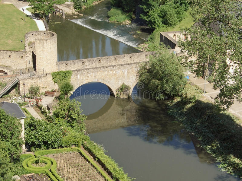 Download Bridge in Luxembourg stock photo. Image of stone, river - 29430472