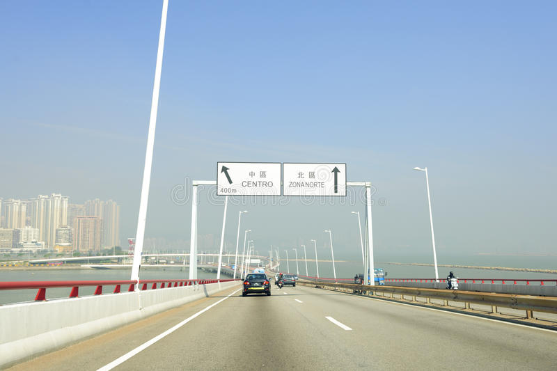 Download Bridge in Macao stock image. Image of highway, drive - 22350053