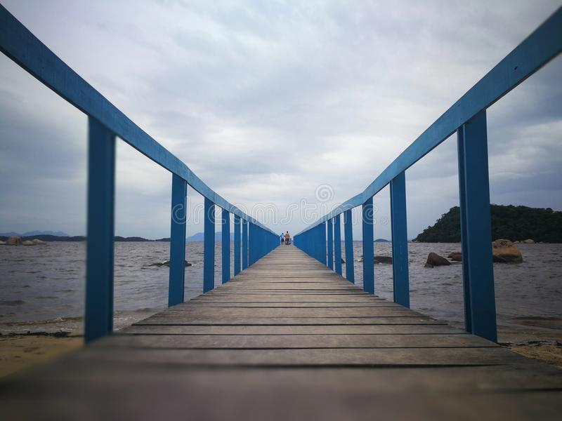 The bridge of missing in Paqueta Island royalty free stock images