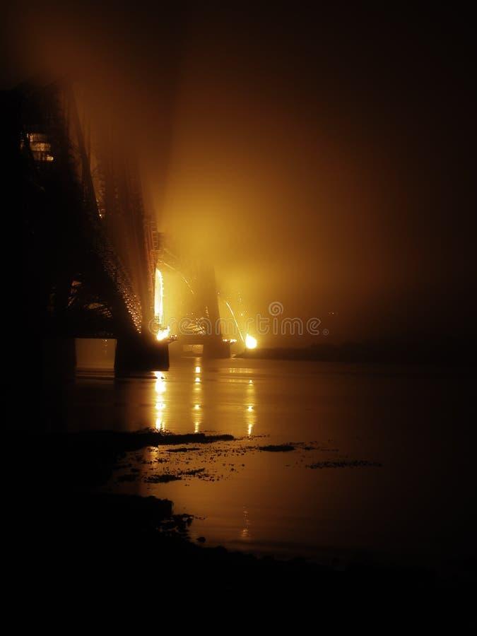 Bridge in the mist stock photos