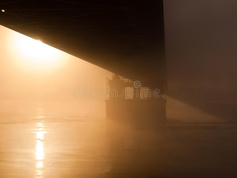 Download Bridge In The Misty Morning Stock Image - Image: 17366651