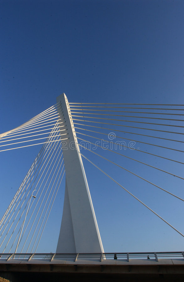Bridge in modern style royalty free stock image