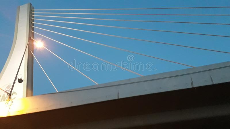 Bridge in Morning background royalty free stock images