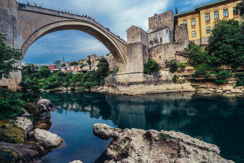 Bridge in Mostar stock photos