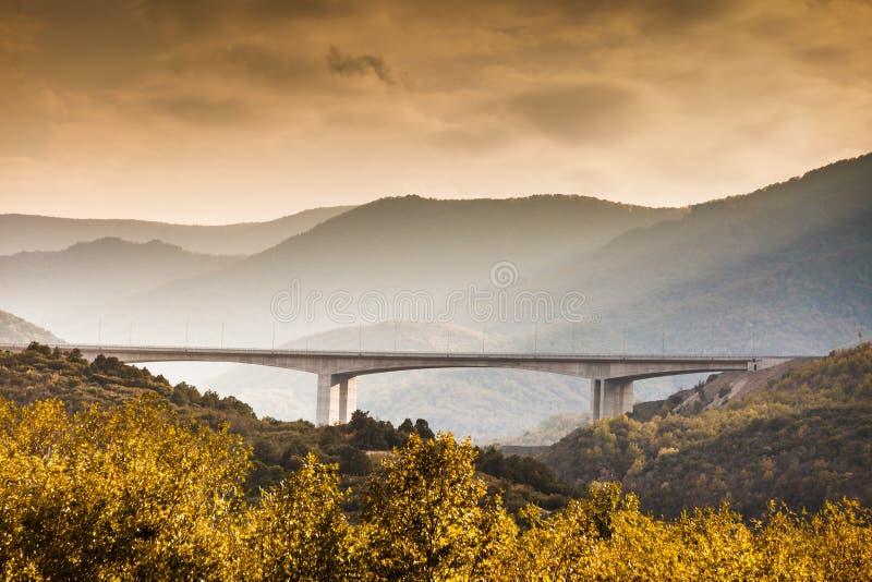 Bridge in mountains Macedonia. Bridge in scenic mountains in Macedonia, infrastructure royalty free stock image