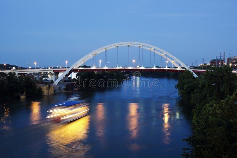 Download Bridge in Nashville stock photo. Image of nashville, city - 20342076