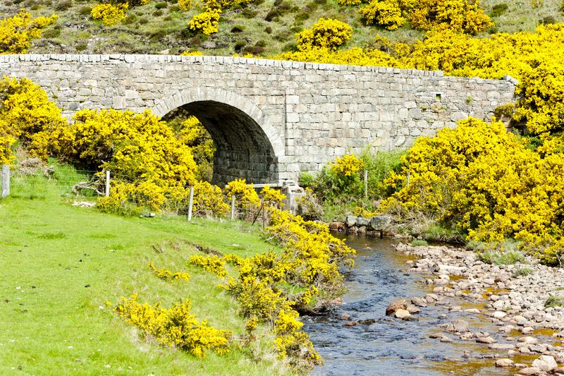 Bridge near Armadale Bay, Highlands, Scotland. Outdoors, outside, exteriors, europe, western, great, britain, united, kingdom, uk, architecture, building royalty free stock images