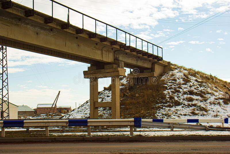 A bridge near the Iran bases. Building near the bases royalty free stock photos