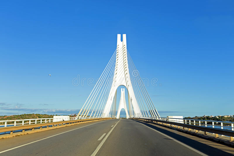 Bridge near Portimao in Portugal stock photo