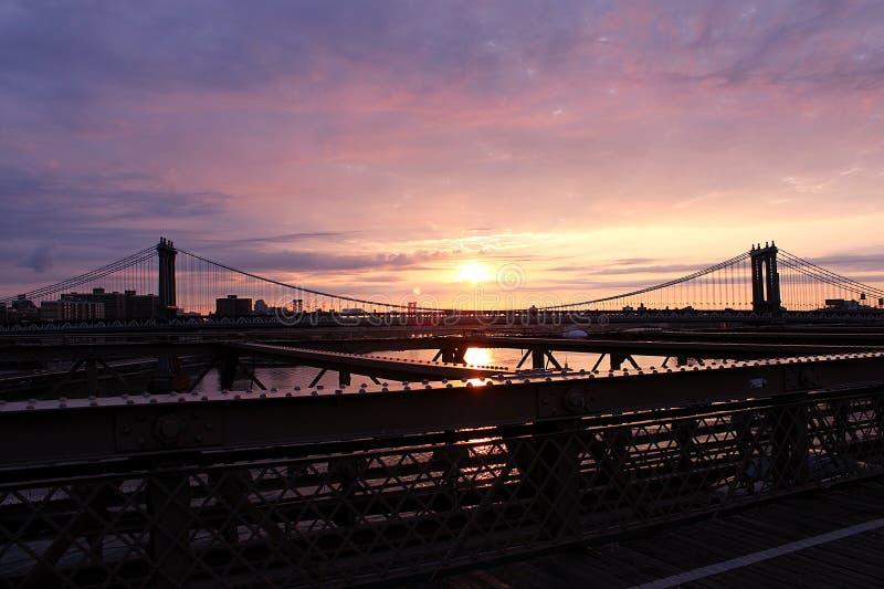 Bridge in New York stock images