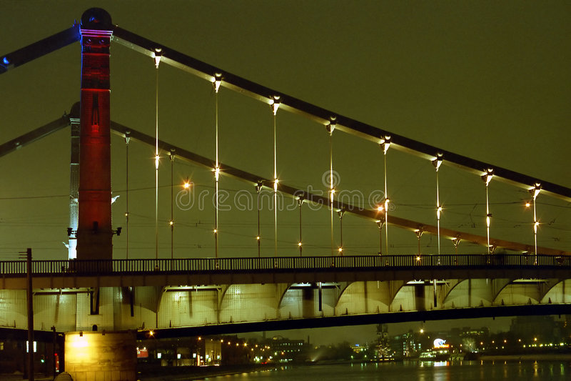 Download A bridge at night stock image. Image of sight, night, river - 1214461