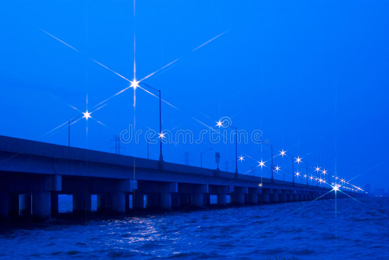Download Bridge at Night stock photo. Image of river, waves, water - 26534712