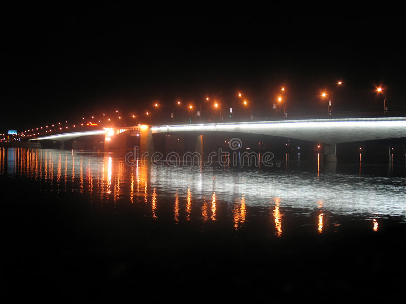 Bridge night royalty free stock photography