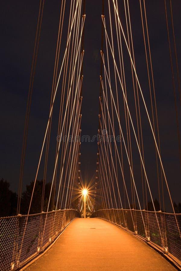 Download Bridge at night. stock photo. Image of mild, enchanting - 844492