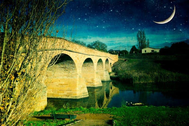 Bridge at night, Richmond stock photos