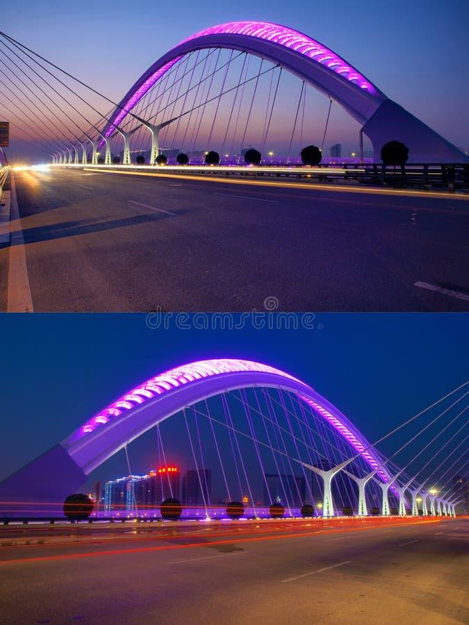 Download Bridge nocturne stock image. Image of bridge, cable, nightscop - 21521331