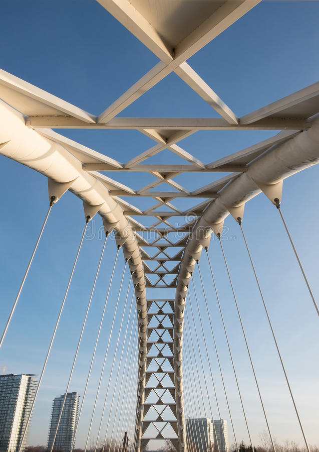 Bridge over the Blue Sky royalty free stock photos