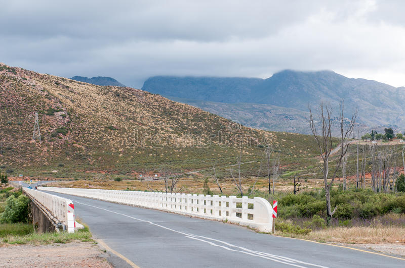 Bridge over the Breede River between Rawsonville and Worcester. WORCESTER, SOUTH AFRICA - DECEMBER 2, 2014: Bridge over the Breede River between Rawsonville and royalty free stock photos