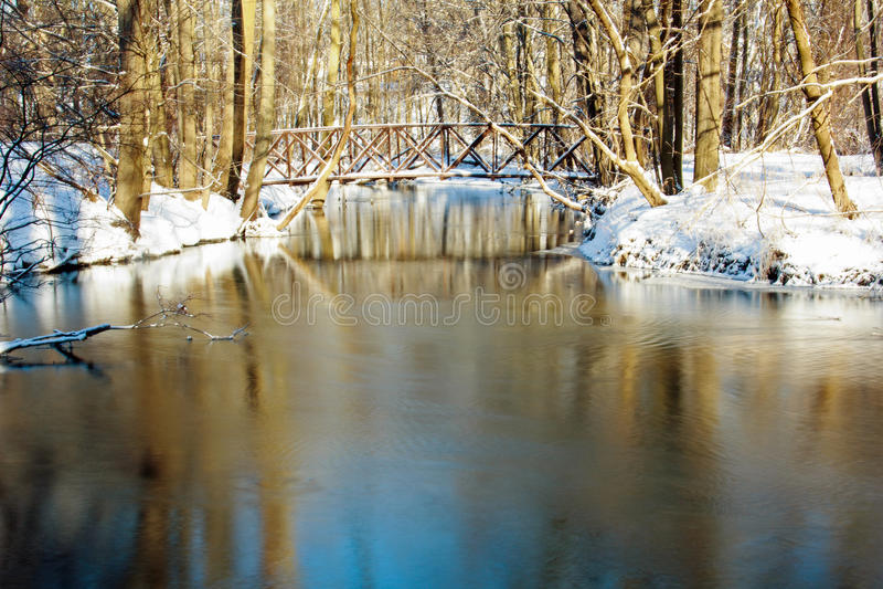 Bridge over the creek stock image