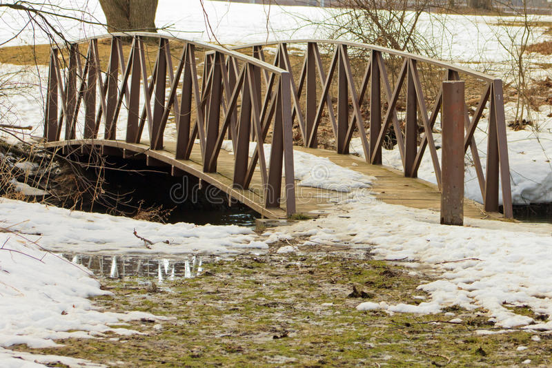 Download Bridge over creek stock photo. Image of freezing, lemery - 38822304