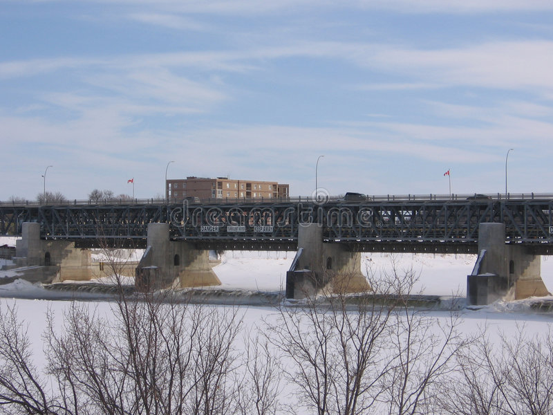 Bridge Over Floodway Stock Photos