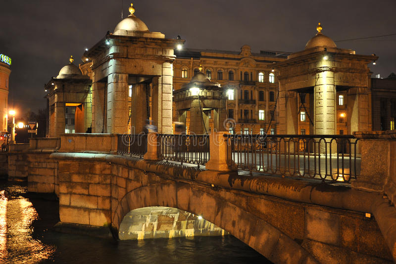 Download Bridge Over Fontanka River In Saint-Petersburg Stock Photos - Image: 23250933