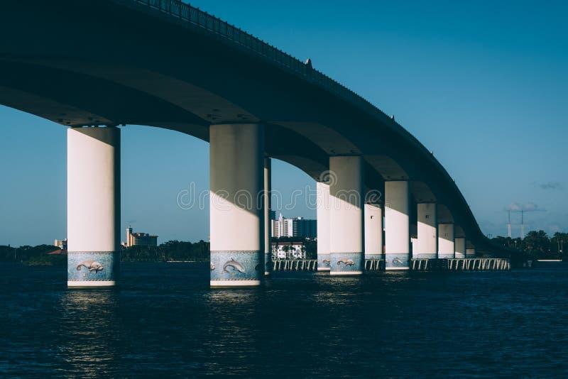 Bridge over the Halifax River in Daytona Beach, Florida. Bridge over the Halifax River in Daytona Beach, Florida royalty free stock image