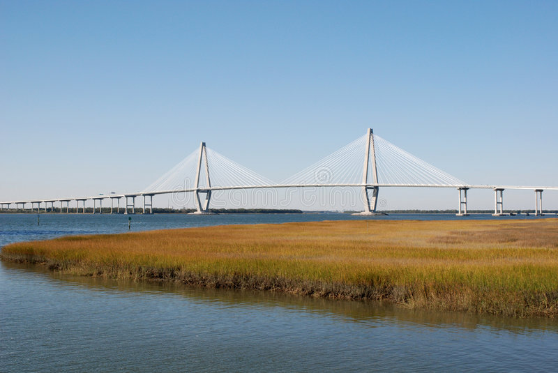 Download Bridge over Harbor stock photo. Image of span, travel - 3772518