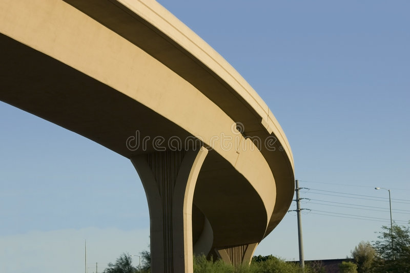 Bridge over the Highway royalty free stock images