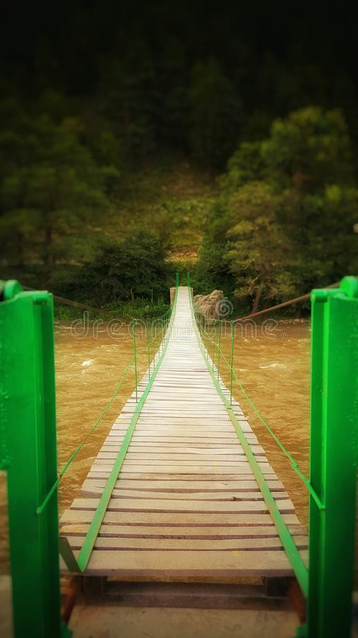 Bridge over the last weekend royalty free stock images