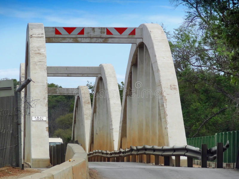 Bridge over Limpopo River royalty free stock photos