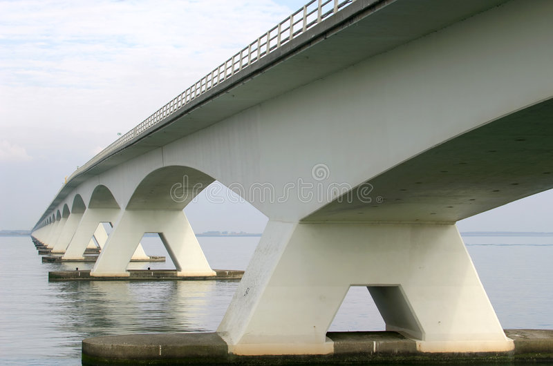 Bridge over the Oosterschelde in Holland royalty free stock image
