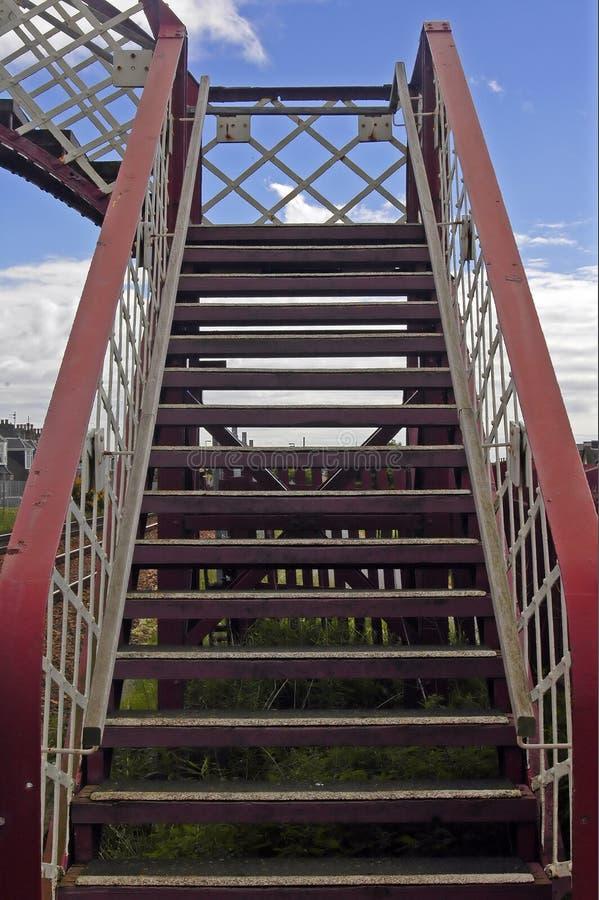 Bridge over a railway line stock photos
