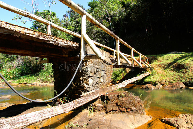 Bridge Over A River In Bahia Royalty Free Stock Images