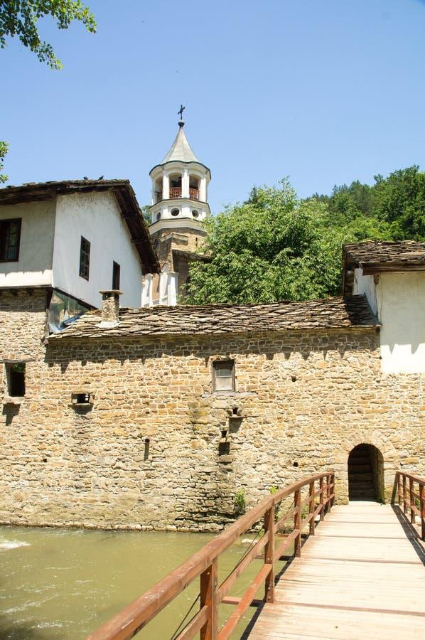 The bridge over the river near the Dryanovo Monastery, Bulgaria royalty free stock image