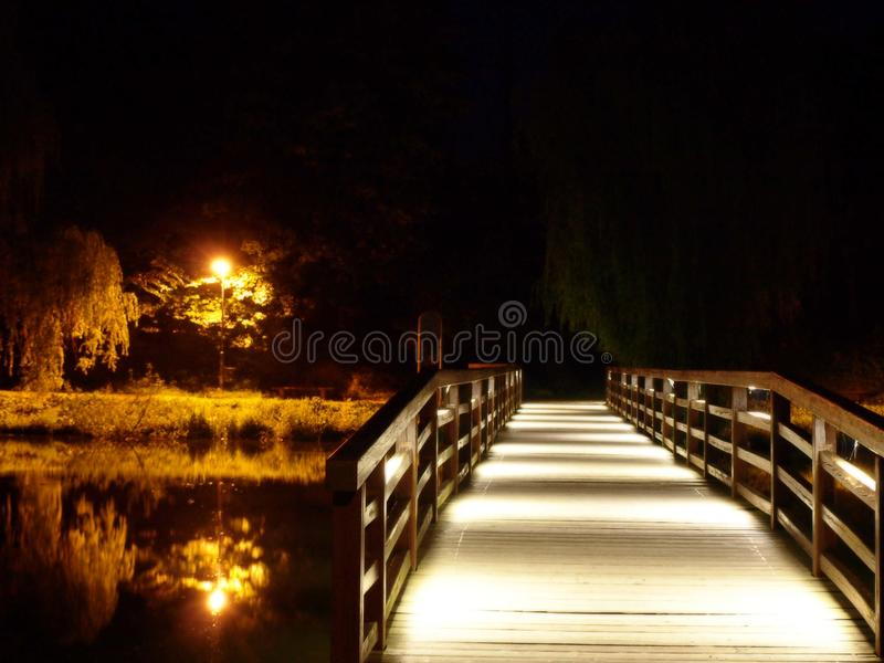 Download The Bridge Over The River At Night Stock Photo - Image of dusk, capital: 37091548