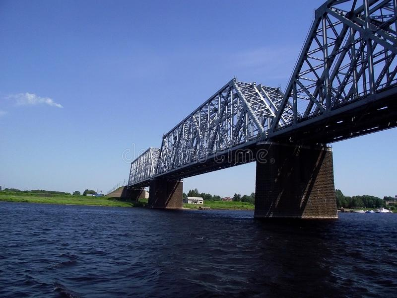 Bridge over the river stock photo