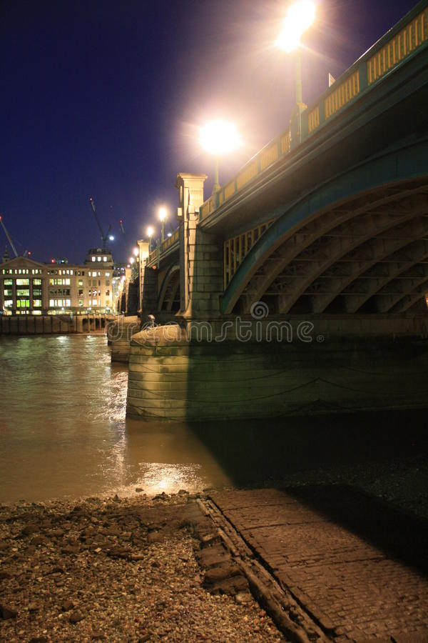 Bridge over the River Thames stock images