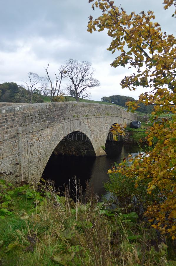 Bridge over the River Ure, Yorkshire stock images