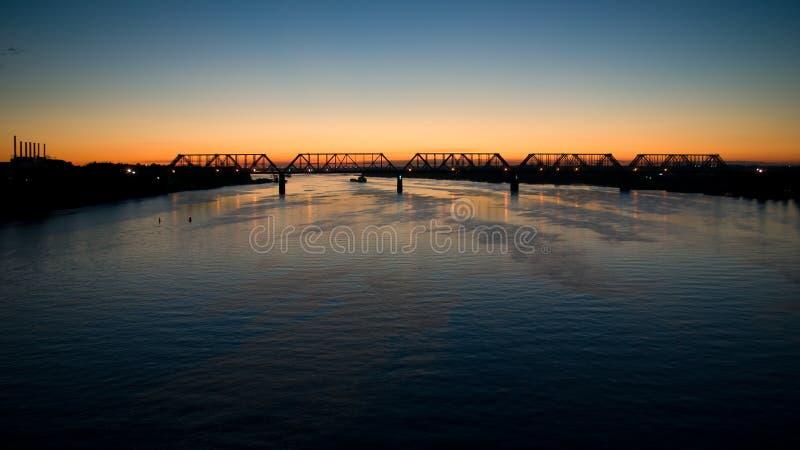Bridge over the river Volga royalty free stock images