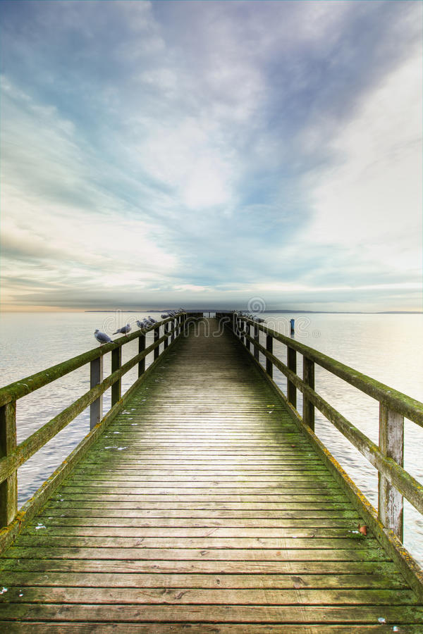 Bridge over the sea royalty free stock images