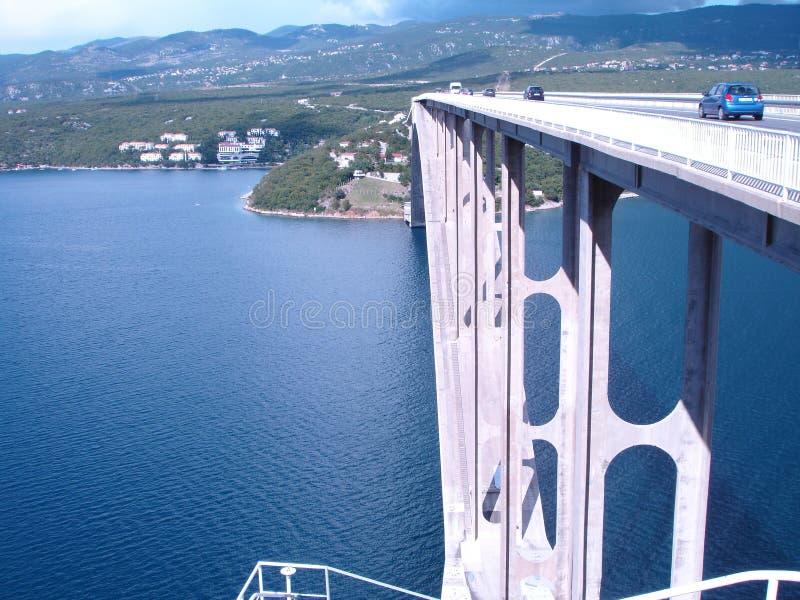 Bridge over the sea royalty free stock photo