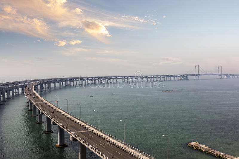 Bridge over the sea royalty free stock photography