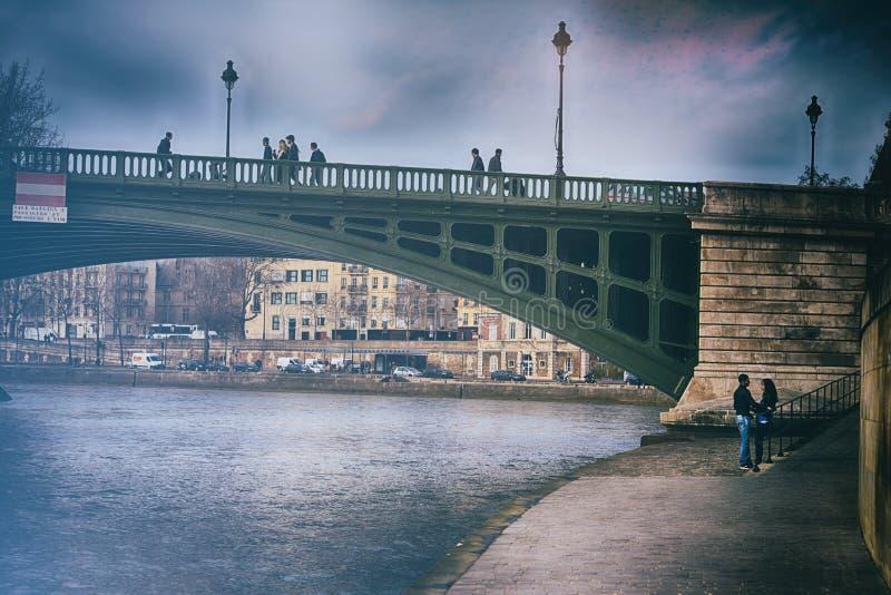 Bridge over Seine, Paris stock photography
