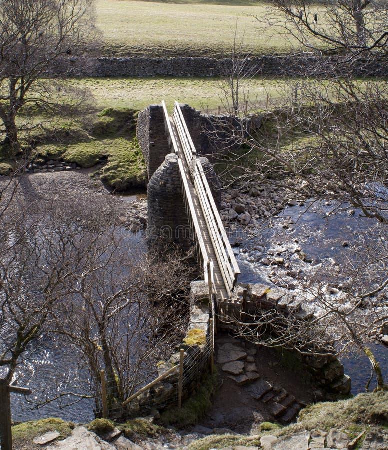 Bridge over the Swale stock photography