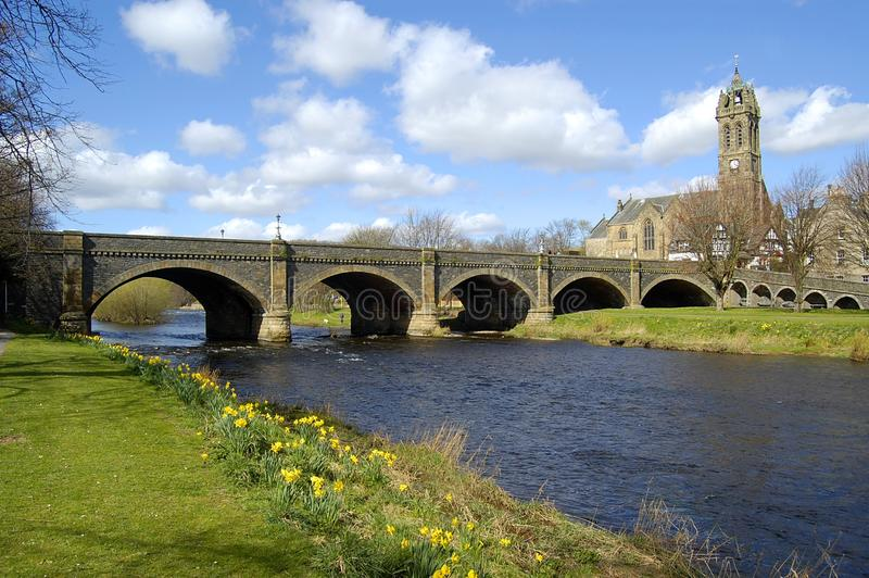 Download Bridge Over The Tweed, Peebles Stock Photo - Image of horizontal, blue: 18968226