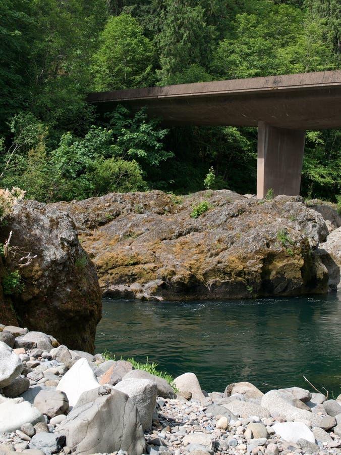 Bridge over the Umpqua royalty free stock photography