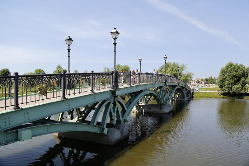 Bridge over water royalty free stock photos